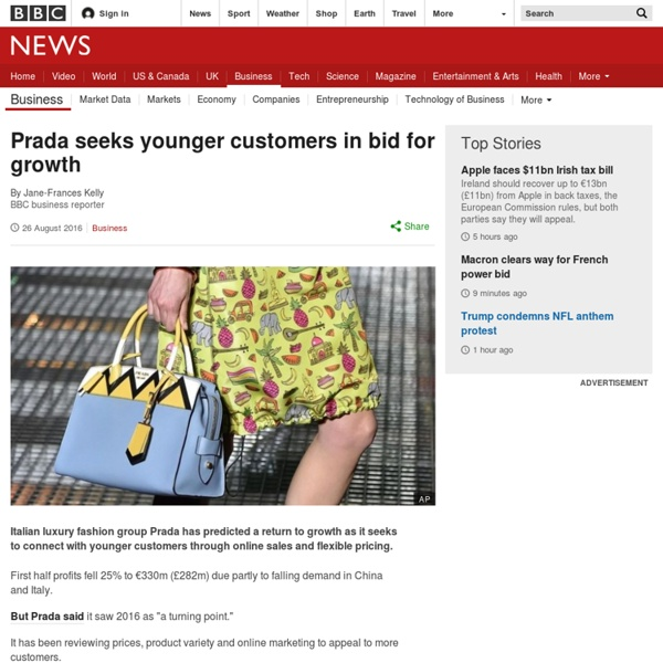 3.3.4 Prada seeks younger customers in bid for growth