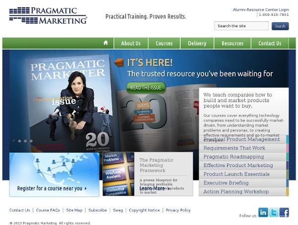 Pragmatic Marketing, world's most popular product management training