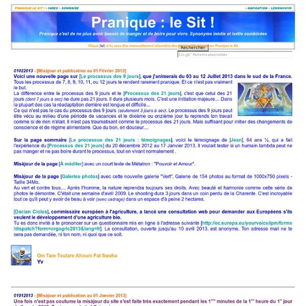 Pranique, pranic, prana (respirien, breatharian, aerivoro, inédie) : le Site !