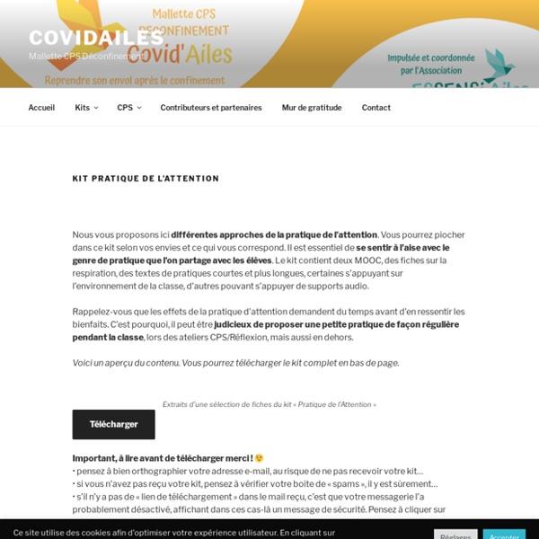 Kit Pratique de l'attention – CovidAiles