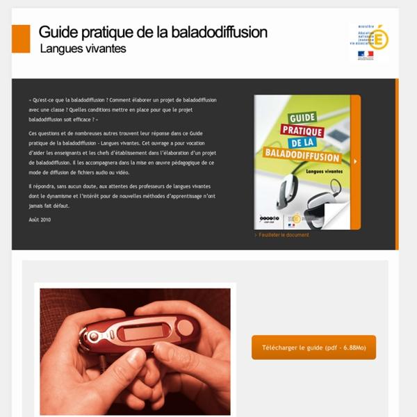 RUB. SITE SCÉRÉN : Guide pratique de la baladodiffusion - Langues vivantes