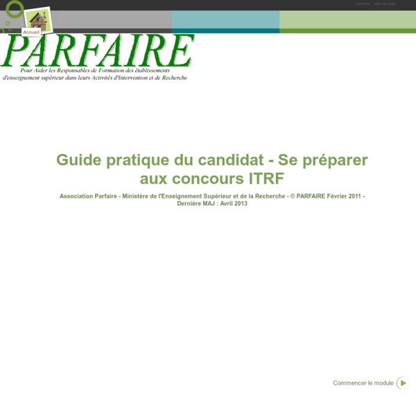 Guide pratique du candidat - Se préparer aux concours ITRF
