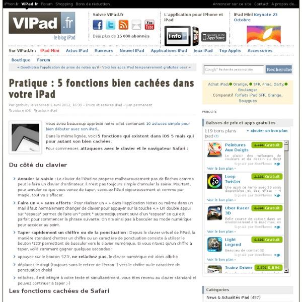 Pratique : 5 fonctions bien cachées dans votre iPad - iPad mini, iPad Retina