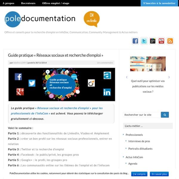 """Guide pratique """"Réseaux sociaux et recherche d'emploi"""""""