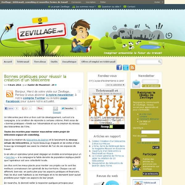 ZevillageZevillage : télétravail, coworking et nouvelles formes de travail