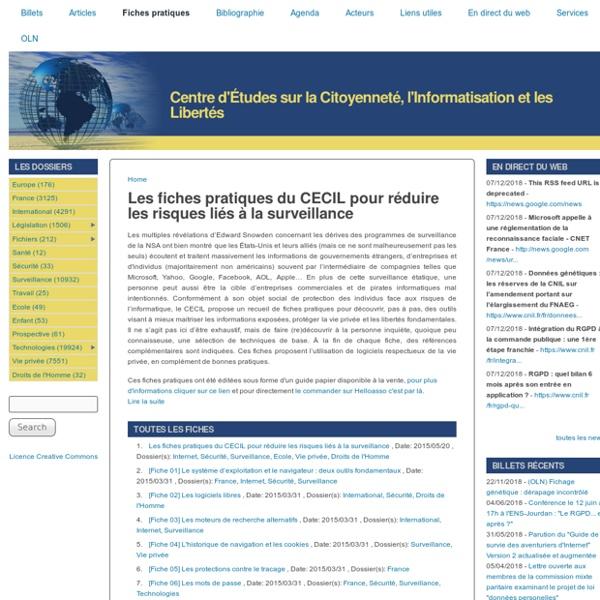 SIC : Fiches pratiques du CECIL