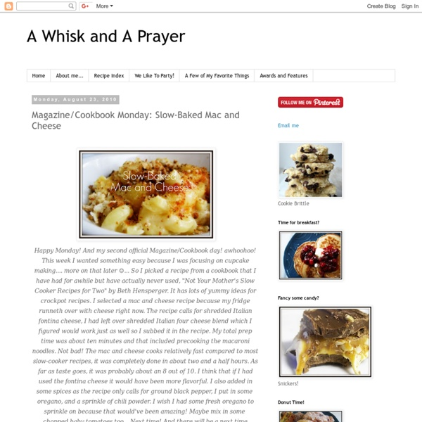 Magazine/Cookbook Monday: Slow-Baked Mac and Cheese