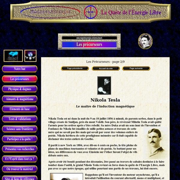 Précurseurs : Nikola Tesla