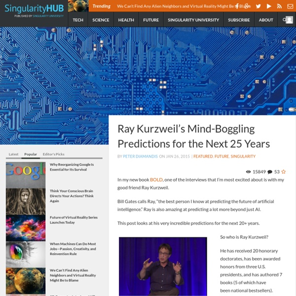 Ray Kurzweil's Mind-Boggling Predictions for the Next 25 Years