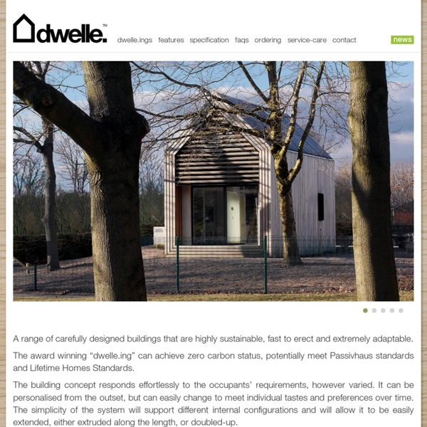 Dwelle. : high quality, zero-carbon, prefabricated eco-buildings