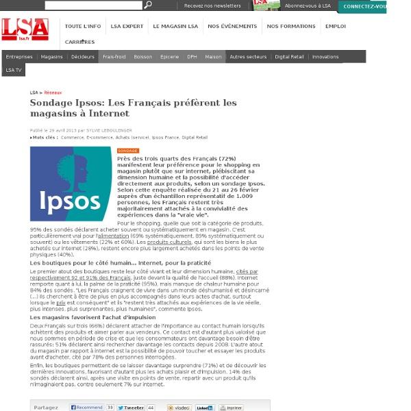 Sondage Ipsos: Les Français préfèrent les