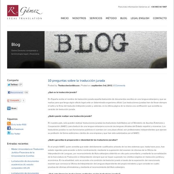 10 preguntas sobre la traducción jurada