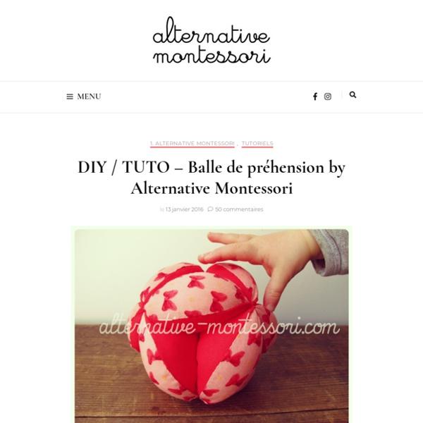 (Tutoriel) Balle de préhension ❤ Alternative Montessori -