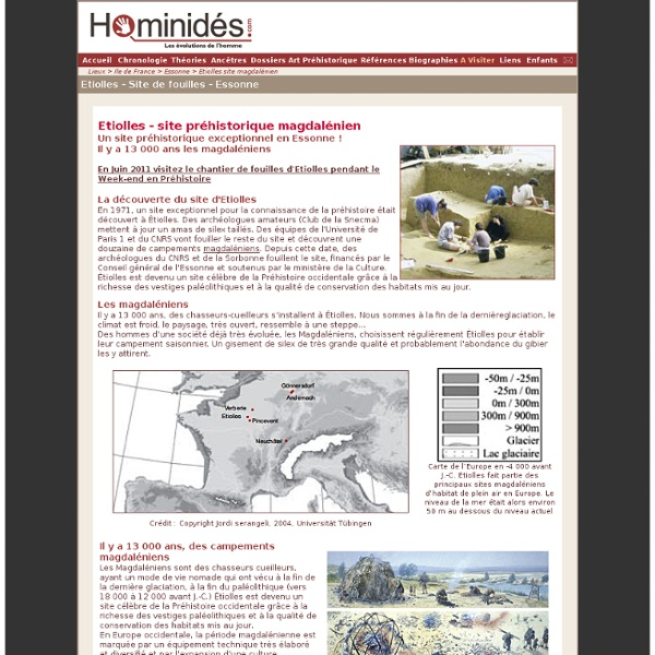 Etiolles - Site préhisitorique