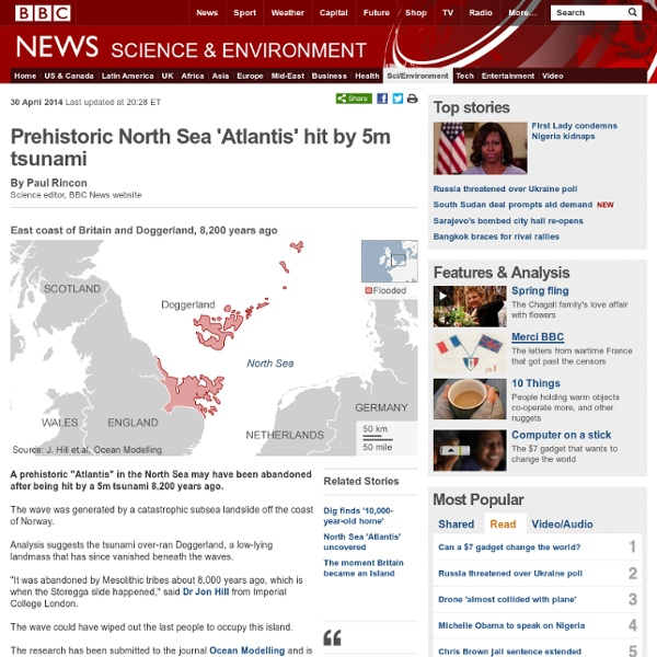 Prehistoric North Sea 'Atlantis' hit by 5m tsunami