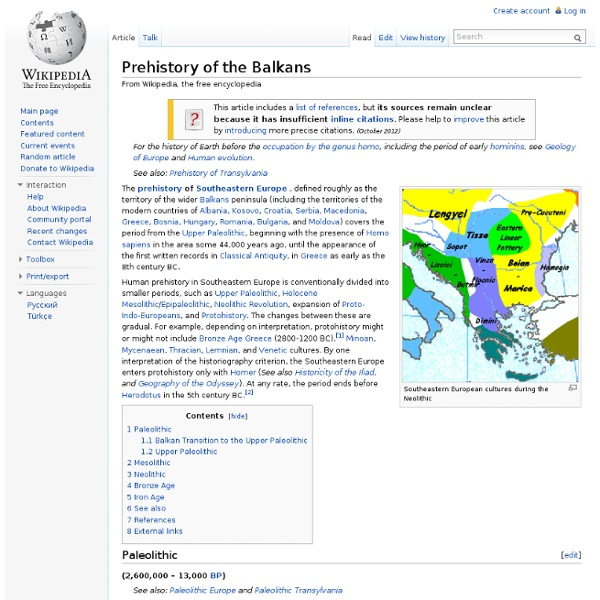 Prehistory of the Balkans