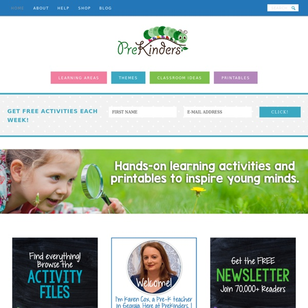 PreKinders: Ideas & Resources for Pre-K & Preschool Teachers