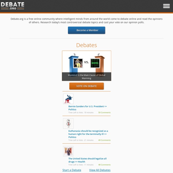 The Premier Online Debate Website