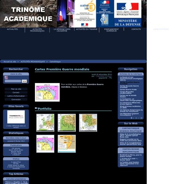 Cartes Première Guerre mondiale - Trinôme académique Lyon