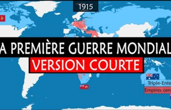 La Première Guerre mondiale - Résumé sur carte