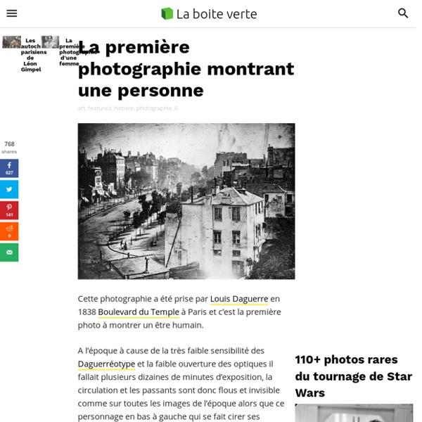 La première photo montrant une personne en 1838 par Daguerre