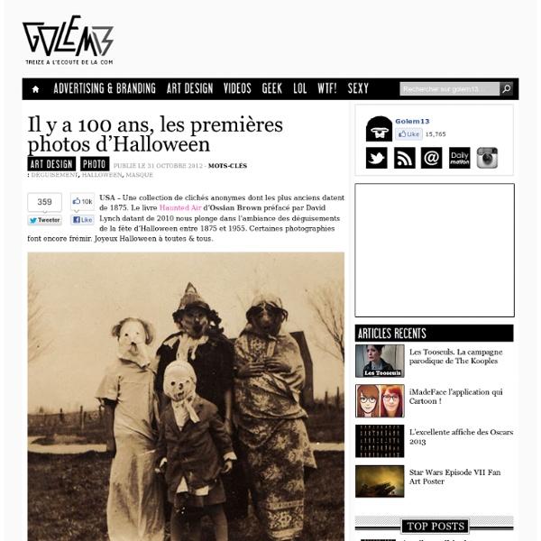 Il y a 100 ans, les premières photos d'Halloween