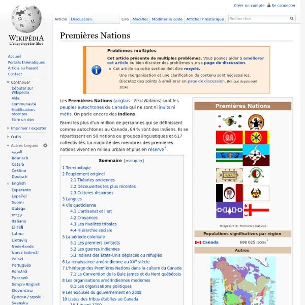 Premières Nations