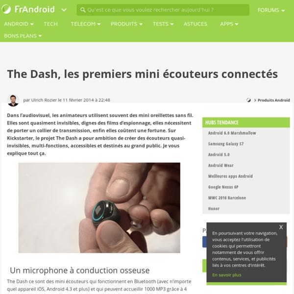 The Dash, les premiers mini écouteurs connectés