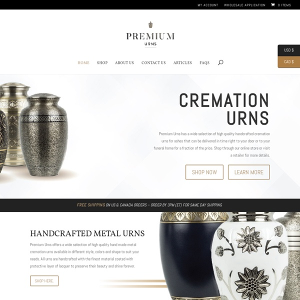 Premium Urns - Canada cremation urns for ashes specialist