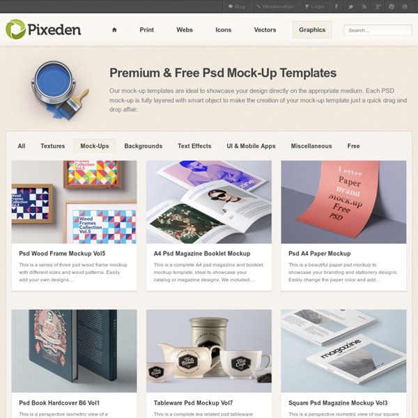 Premium and Free Mock-Up Templates