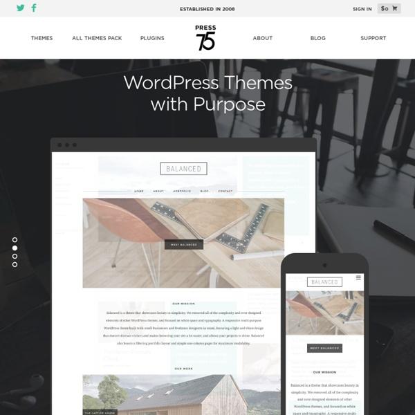 Premium WordPress Themes by Press75