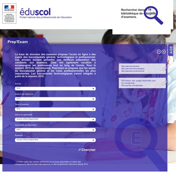 Prep'Exam - Eduscol