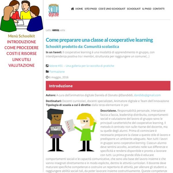 Come preparare una classe al cooperative learning ~ Schoolkit - accompagnamento innovativo del PNSD