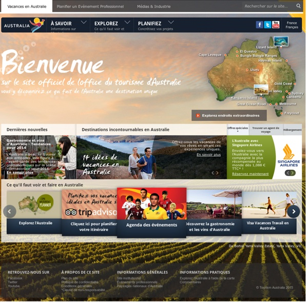 Préparez votre voyage en Australie - Office du tourisme Australie
