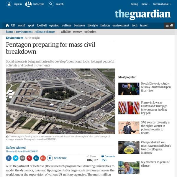 Pentagon preparing for mass civil breakdown