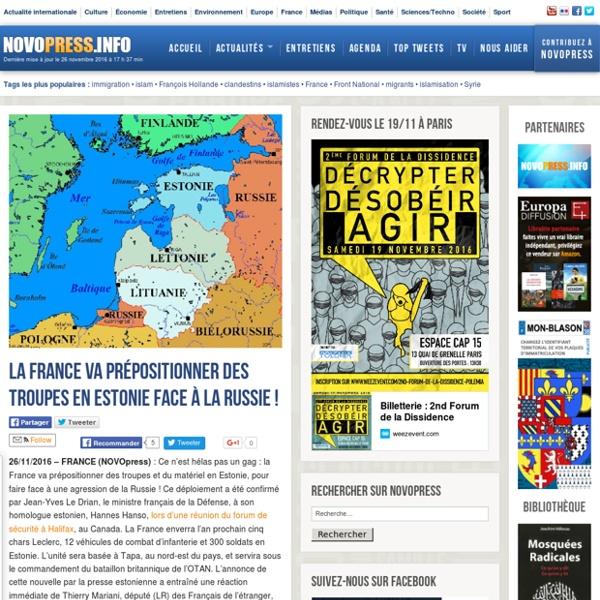 La France va prépositionner des troupes en Estonie face à la Russie ! -