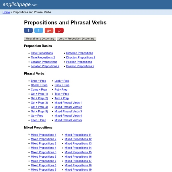 Prepositions and Phrasal Verbs