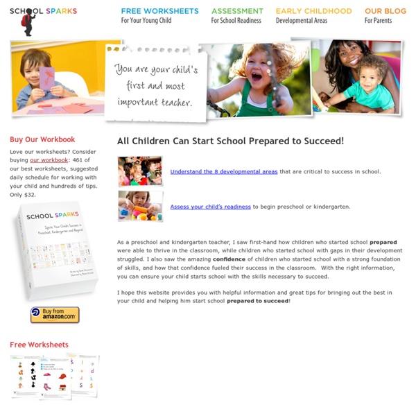 Preschool and Kindergarten Readiness - School Sparks