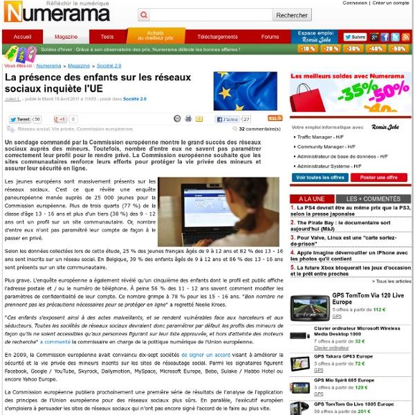 La présence des enfants sur les réseaux sociaux inquiète l'UE-Mozilla Firefox