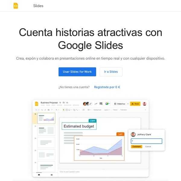 Presentaciones de Google: crea y edita presentaciones online de forma gratuita.