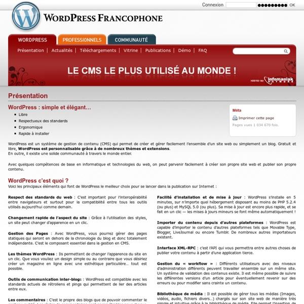 Présentation WordPress
