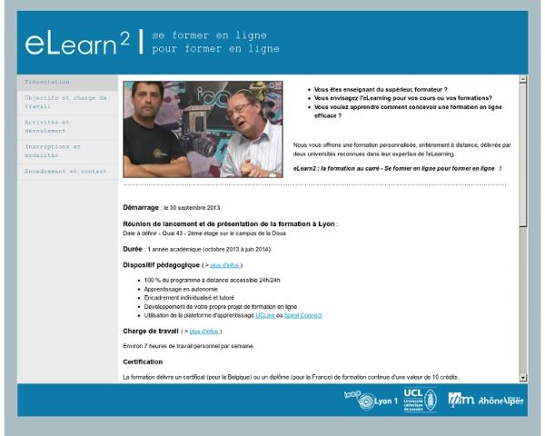 eLearn2 - Se former en ligne pour former en ligne !