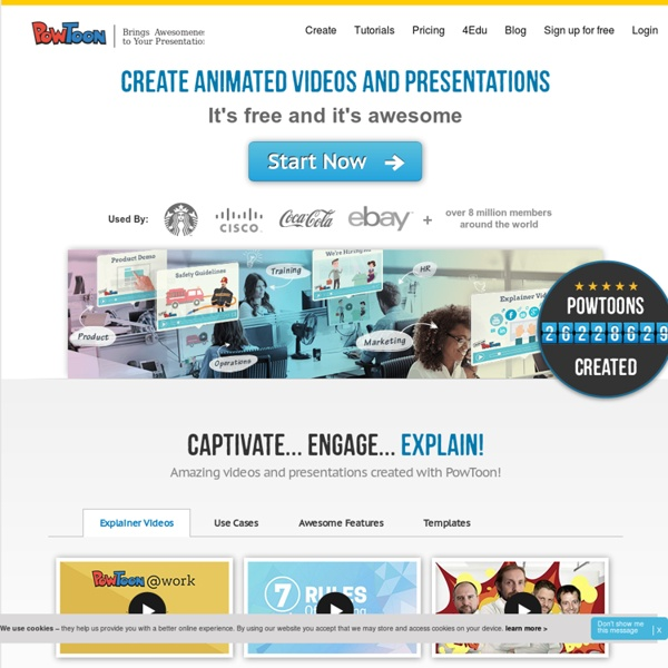PowToon : Online business presentation software to create free, cool, animated, powerpoint video alternatives