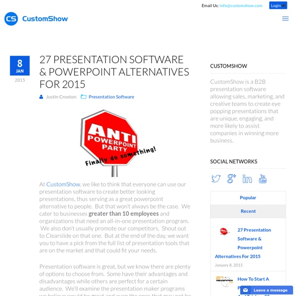 27 Presentation Software & Powerpoint Alternatives For 2015