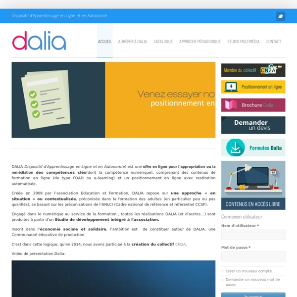 DALIA : outil en ligne