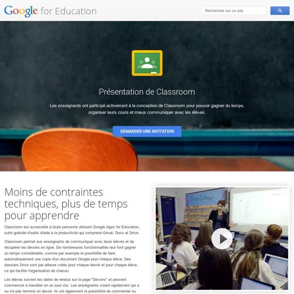 Présentation de Classroom pour GoogleApps forEducation