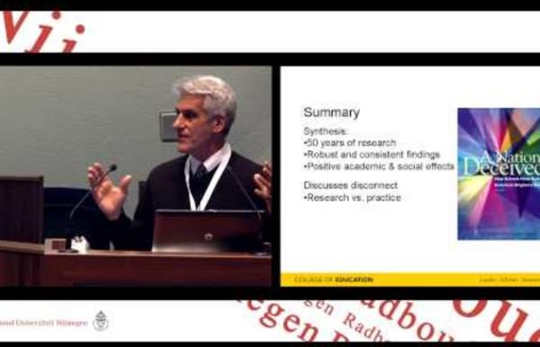 Presentation Prof. dr. Nicholas Colangelo