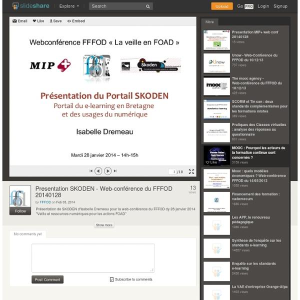 Presentation SKODEN - Web-conférence du FFFOD 20140128