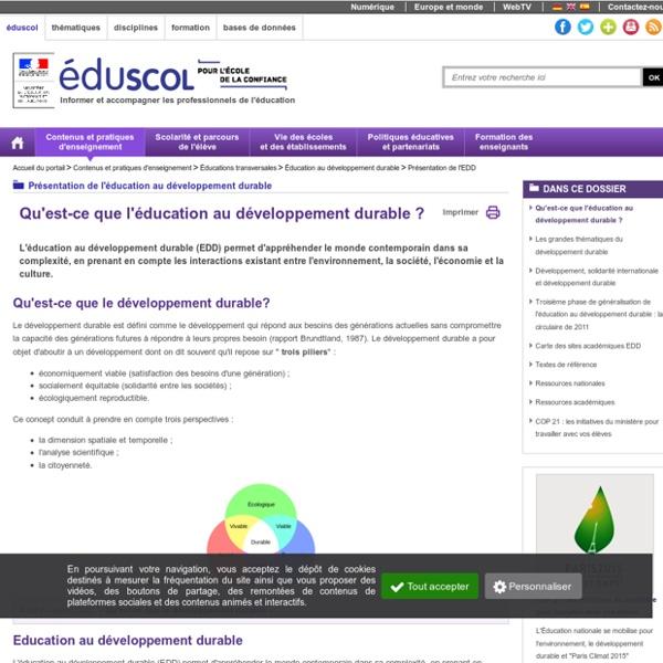 Présentation de l'EDD ( Eduscol)