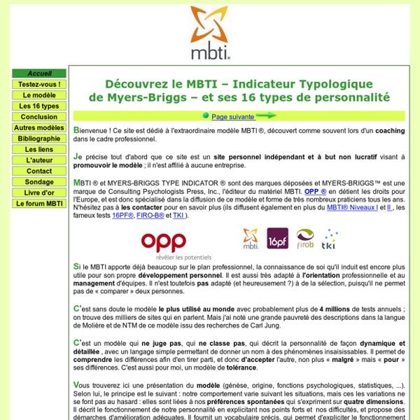 Présentation du MBTI en français